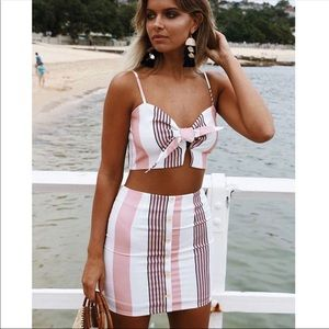 Dresses & Skirts - Pink and white two piece set